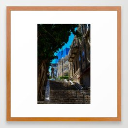 Haifa cityscape Framed Art Print