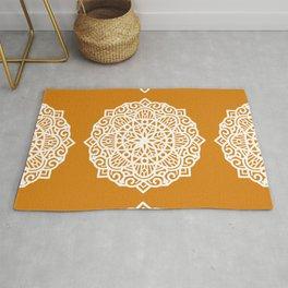Senf Mustard Mandala Pattern Rug