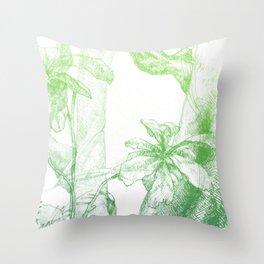 Amazonia (green) Throw Pillow