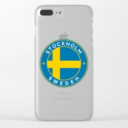 Sweden, Stockholm, circle Clear iPhone Case