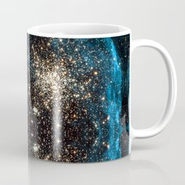 Blue Aurora Galaxy Star Field Coffee Mug