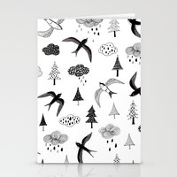 swallow Stationery Cards featuring swallow by Hui_Yuan-Chang