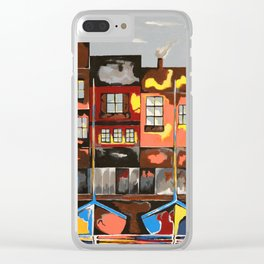 Picturesque And Docked Clear iPhone Case