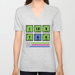 Love is chemistry Unisex V-Neck