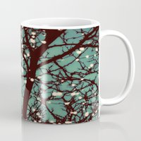 night Mugs featuring Night Lights by elle moss