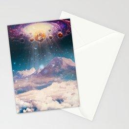 Descending worlds Stationery Cards