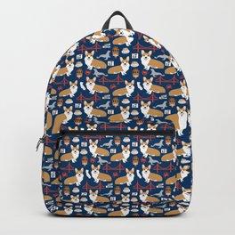 Corgi san francisco travel holiday vacation dog breed gifts Backpack
