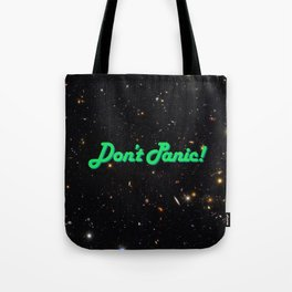 Don't Panic! in Friendly Green Tote Bag