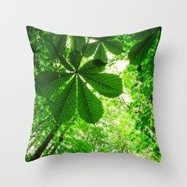 Rainforest Radiance Throw Pillow