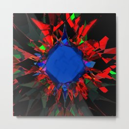 Diamond burst Metal Print