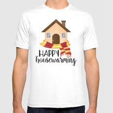 Happy Housewarming White Mens Fitted Tee MEDIUM
