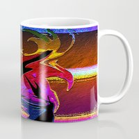 "wings Mugs featuring "" Wings ""  by shiva camille"