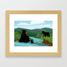 Black Bears Framed Art Print