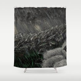 The Sheltering Flock Shower Curtain