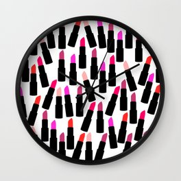 Cute Lipstick Wall Clock