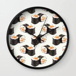 pixel sushi Wall Clock