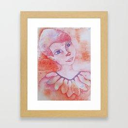Le clown acrobate Framed Art Print