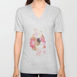 Watercolor Pink Black Gold Flow   [dec-connect] 43. binding Unisex V-Neck