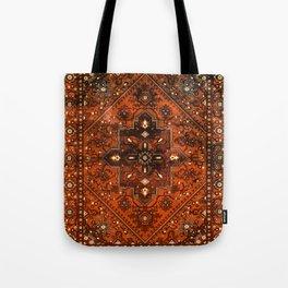 N151 - Orange Oriental Vintage Traditional Moroccan Style Artwork Tote Bag