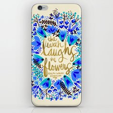 The Earth Laughs in Flowers – Gold & Blue iPhone & iPod Skin