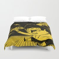 truck Duvet Covers featuring Truck Fighter! by ChrisNygaard