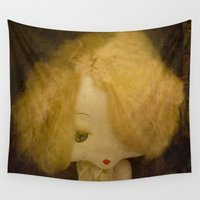doll Wall Tapestries featuring Vintage Doll by Victoria Herrera