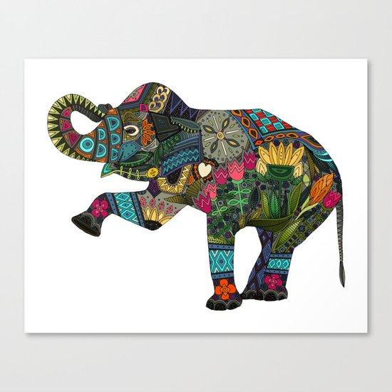asian elephant white Canvas Print