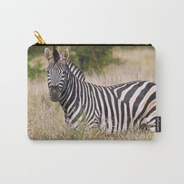 Zebra in the grass - Africa wildlife Carry-All Pouch