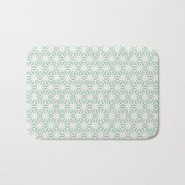 Seafoam Green Asanoha (Hemp Leaf) Pattern Bath Mat