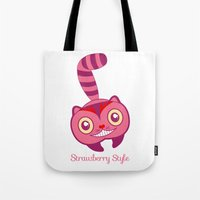 cheshire Tote Bags featuring Cheshire by gabriela