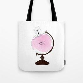 Pink Perfume Globus Tote Bag