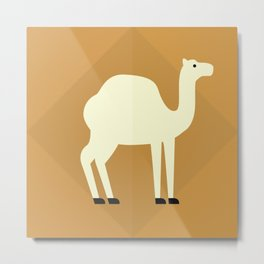 Camel on brown Metal Print