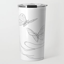 Butterflies on the Palm of the Hand Travel Mug