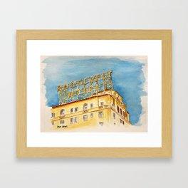 The Hollywood Roosevelt Hotel - Golden Era Icon on Hollywood Blvd Framed Art Print