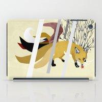 kitsune iPad Cases featuring Kitsune by ravenguerrero