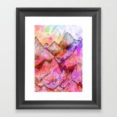 Peaks of Colours Framed Art Print