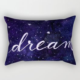 Watercolor galaxy dream - dark blue Rectangular Pillow