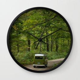 Let the road lead you - Summer Wall Clock