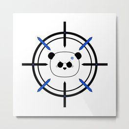 Panda Acquired Metal Print