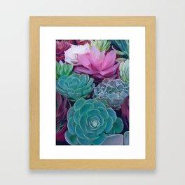 Succulents 2 Framed Art Print