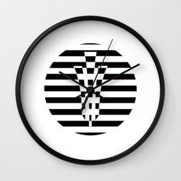YONI SHAKTI streaked logo Wall Clock