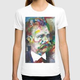 FRIEDRICH NIETZSCHE - watercolor portrait.4 T-shirt