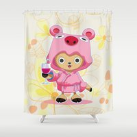 one piece Shower Curtains featuring One Piece: TonyTony Chopper by Neo Crystal Tokyo