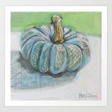 Blue Delight Pumpkn Art Print