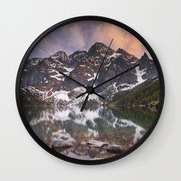 Morskie Oko lake in the Tatra Mountains, Poland at sunset Wall Clock