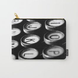 Typewriter keys black and white Carry-All Pouch