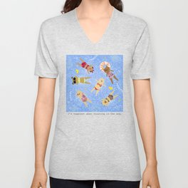 Floating in the Sea Unisex V-Neck