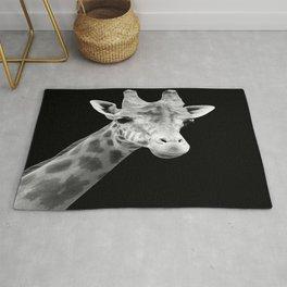 B&W Giraffe Portrait Rug