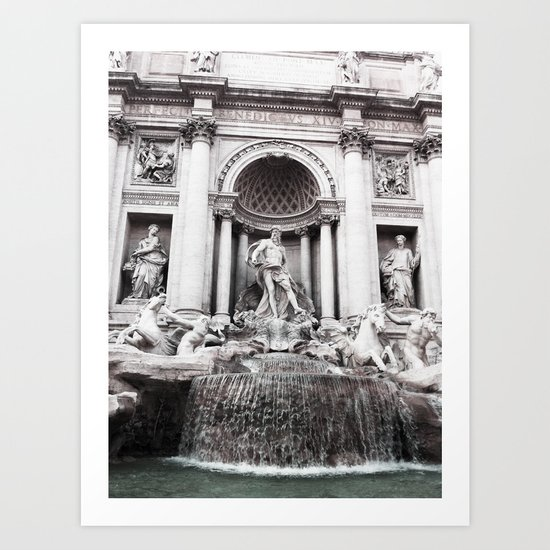 I wished for happiness - trevi fountain Art Print