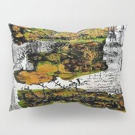 Destination Nowhere - Mixed Media Acrylic Pebeo Abstract Modern Art, 2015 Pillow Sham